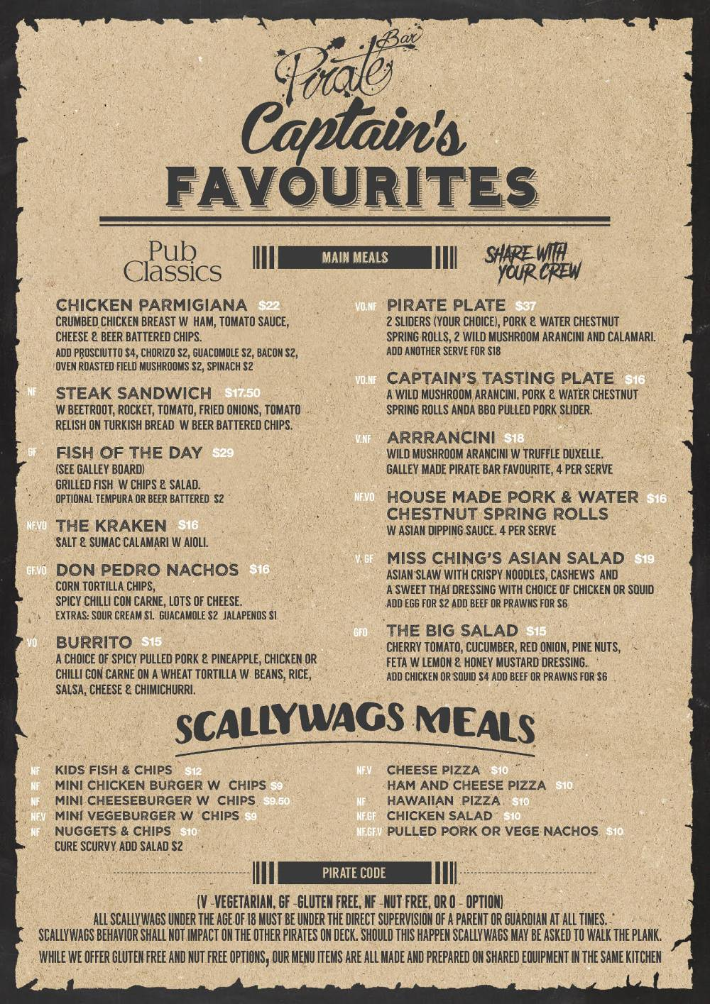 Captains-PirateBar-Menu